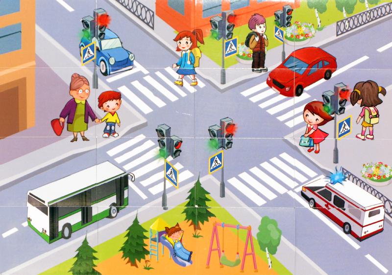 Баннер в картинках по правилам дорожного движения