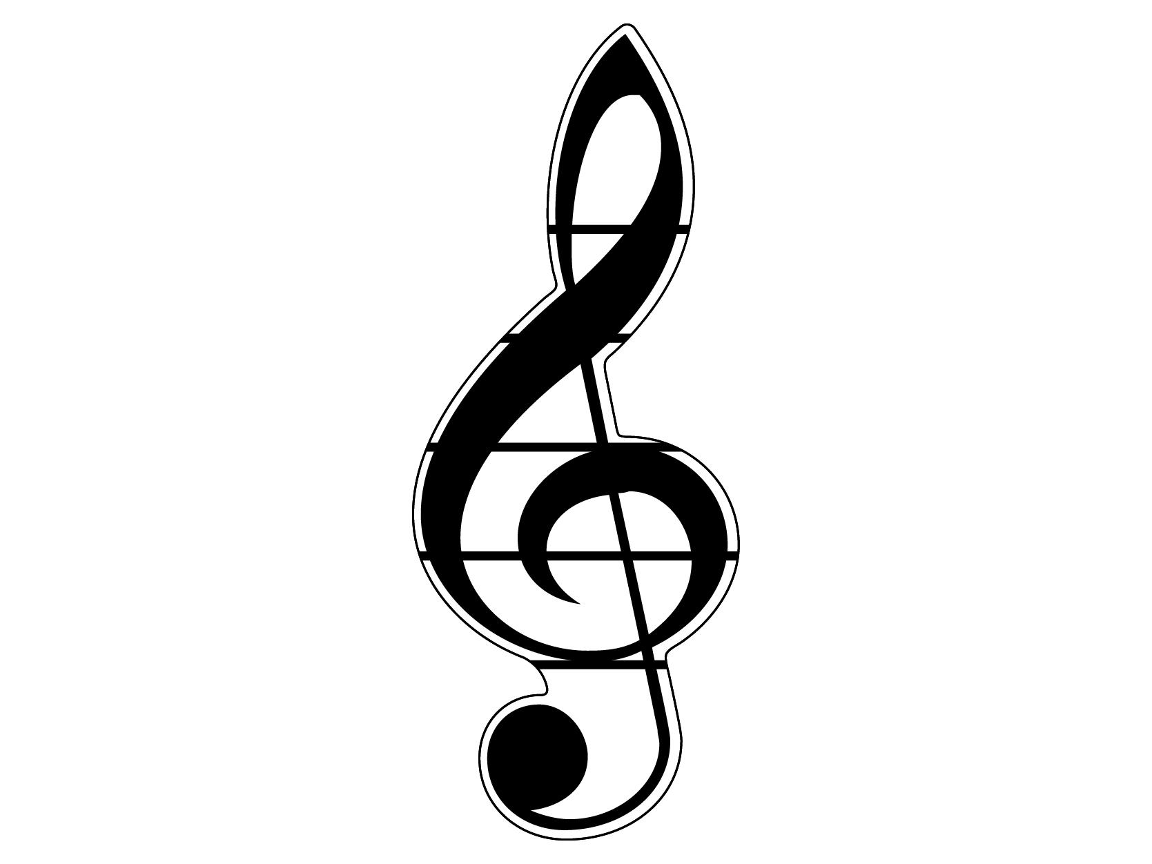 Скрипичный ключ с нотами картинки для детей